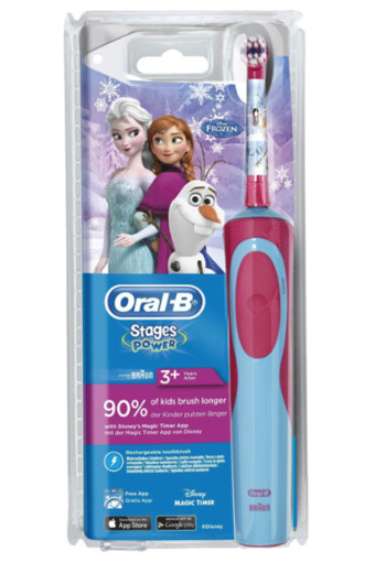 Oral-B Kids elek­tri­sche tan­den­bor­stel Fro­zen Oral B Stages Power Kids met Frozen-figuren