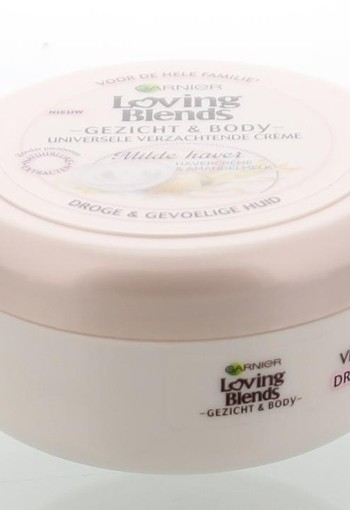Garnier Loving blends gezicht & body creme wilde haver (200 ml)