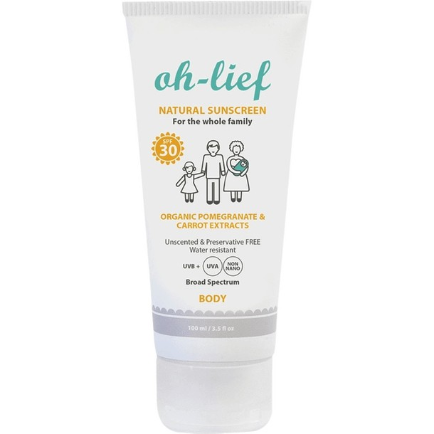 Natural Sunscreen Body SPF30 100 ml