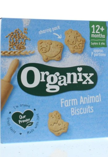 Organix Goodies Farm animals biscuits 12+ maanden bio (100 gram)