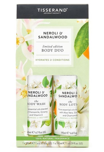 Tisserand Body lotion & body wash neroli & sandelwood (1 set)