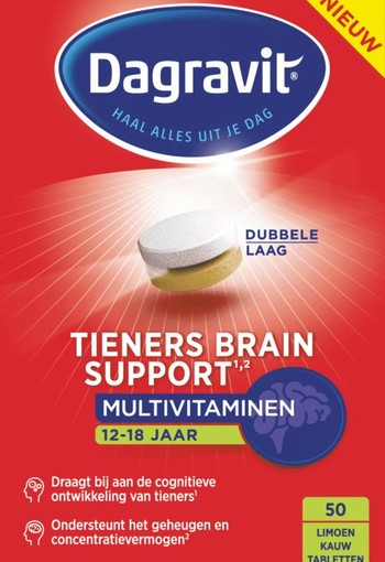 Dagravit Tieners brain support (50 tabletten)