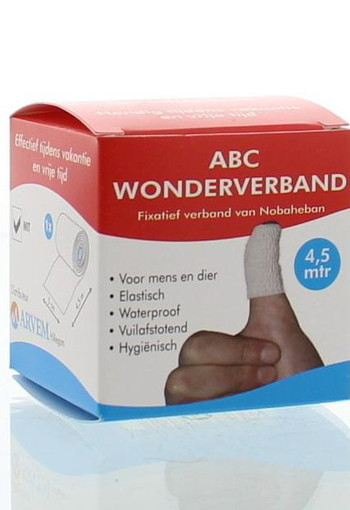 ABC Wondverband Wonderverband wit volwassenen (1 stuks)