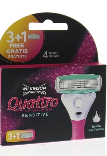 Wilkinson Quattro woman sensitive mesjes 3 + 1 (4 stuks)