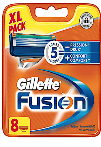Gillette Fusion For Men Scheermesjes 8 stuks