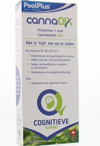 Pool Plus Cannaqix (20 zuigtabletten)