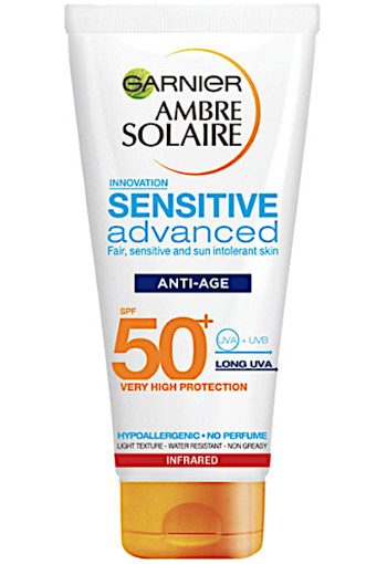 Garnier Am­bre So­lai­re Sen­si­ti­ve age pro­tec­ti­on SPF 50 100 ml