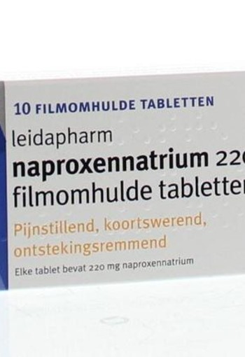 Leidapharm Naproxen natrium 220 mg (10 tabletten)