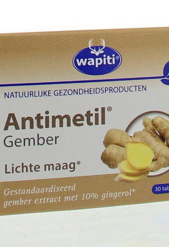 Wapiti Antimetil gember (30 tabletten)