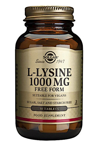 Solgar L-Lysine 1000mg (50 tabletten)