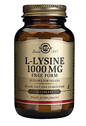 Solgar L-Lysine 1000mg (100 tabletten)