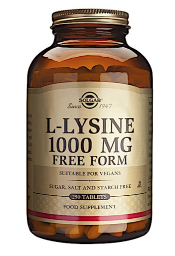 Solgar L-Lysine 1000mg (250 tabletten)