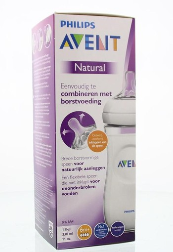 Avent Zuigfles natural 330 ml incl speen (330 ml)