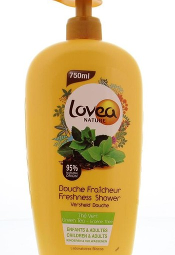 Lovea Shower gel green tea (750 ml)