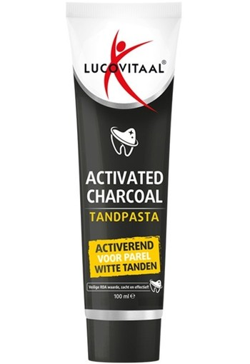 Lucovitaal Tandpasta active charcoal (100 ml)
