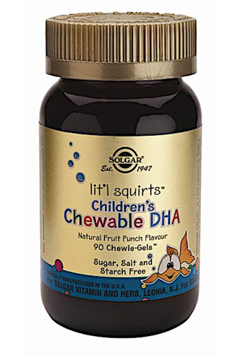 Solgar Lit'l Squirts Children's Chewable DHA (90 kauwbare softgels)