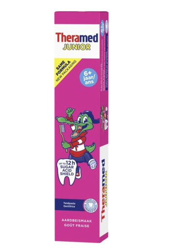 Theramed Junior strawberry 6+ tandpasta (75 ml)