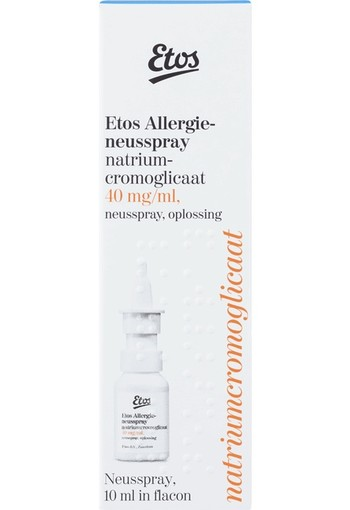 Etos Allergieneusspray Natriumcromoglicaat 40 mg/ml. ( 10ml )