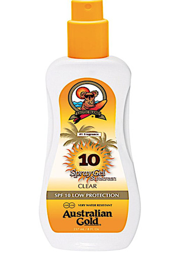 Australian Gold SPF 10 Spray Gel zonder Bronzer