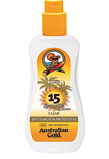 Australian Gold SPF 15 Spray Gel zonder bronzer 237 ML