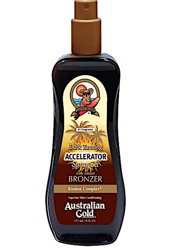 Australian Gold Dark Tanning Accelerator Spray Gel met Bronzer 237 ml