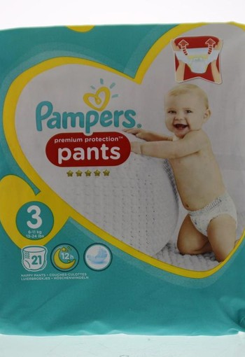 Pampers Premium protection pants maat 3 (21 stuks)