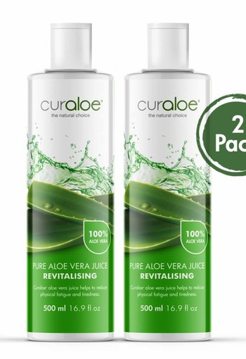 Curaloe® Health line - Pure Aloe Vera Juice  / 500ml - 2 pack