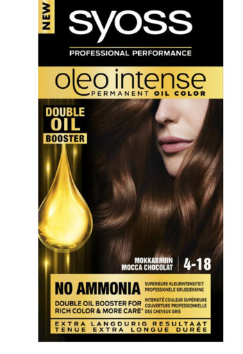 Syoss Color Oleo Intense 4-18 mokkabruin haarverf (1 set)