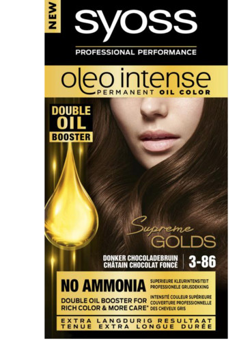 Syoss Color Oleo Intense 3-86 chocoladebruin haarverf (1 set)