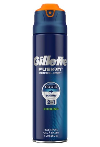 Gillette Fusion proglide scheergel 2 in 1 cooling (200 ml)