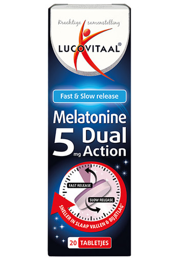 Lucovitaal Melatonine 5 mg dual action (20 tabletten)