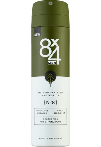8X4 MEN No.8 AntiTranspirant Spray150 ML