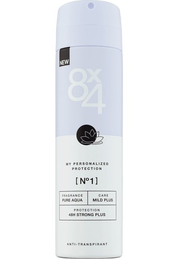 8X4 No.1 AntiTranspirant Spray 150 ml