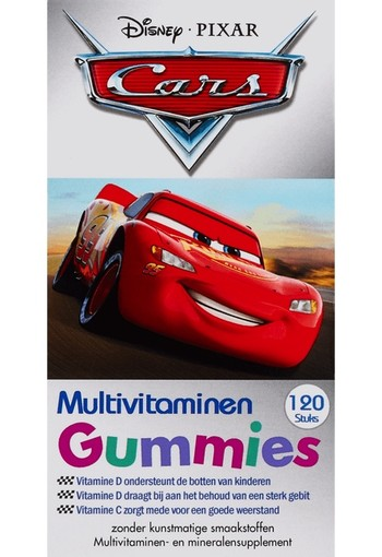 Disney Cars Kinder Multivitaminen Gummies 120 stuks smelttablet