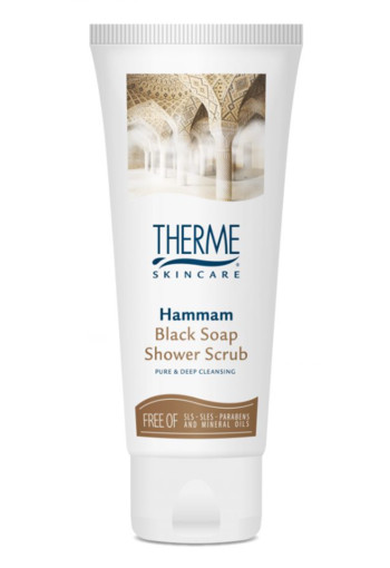 Therme Shower scrub hammam black soap (75 ml)