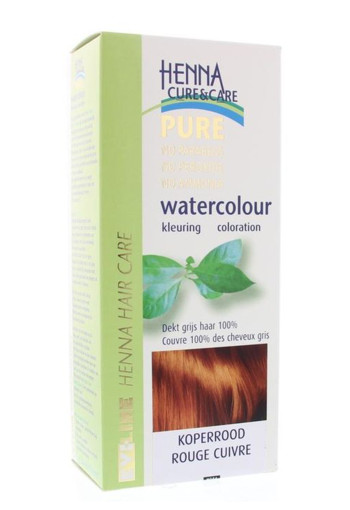 Henna Cure & Care Watercolour koperrood (5 gram)