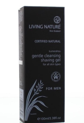 Living Nature Man reinigende scheergel (100 ml)
