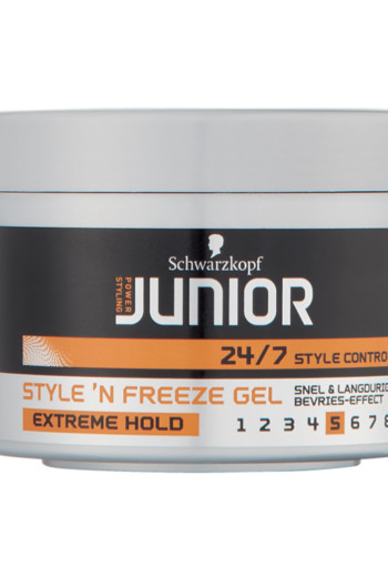 Schwarzkopf Junior Power Styling Extreme Hold Style 'N Freeze Gel 200ml