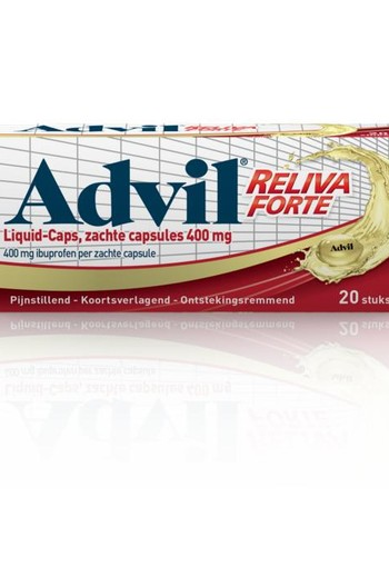 Advil Advil reliva liquid caps 400mg (20 capsules)