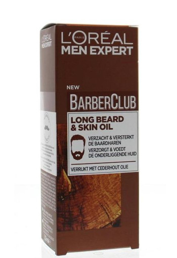 Loreal Barber club long beard & skin oil (30 ml)