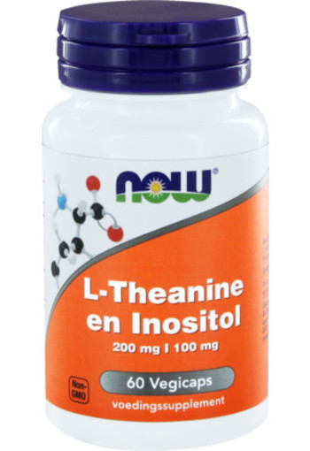 Now L-theanine 200 Mg Met Inositol 100 Mg 60vc