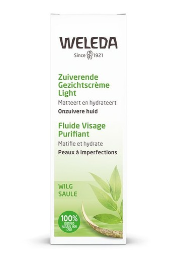 Weleda Naturally clear zuiverende gezichtscreme light (30 ml)