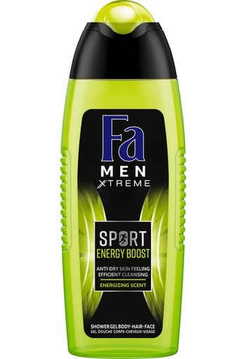 FA Men douchegel sport double power boost 250 ml