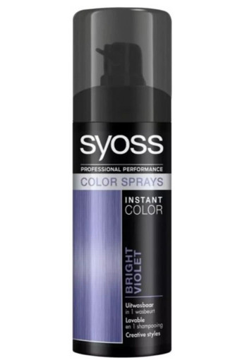 Syoss Colors spray bright violet (1 stuks)