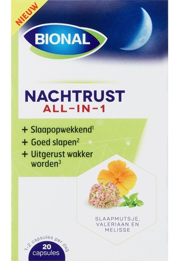 Bional Nachtrust All-In-1 Capsules 20 stuks