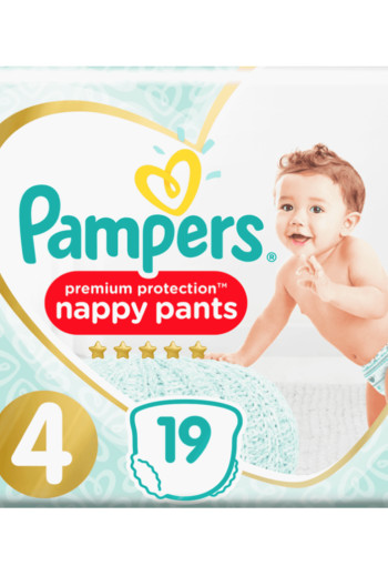 Pampers Premium protection pants maat 4 19 stuks
