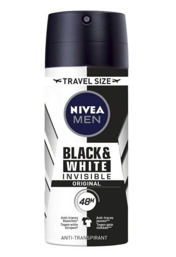 Nivea Men deodorant spray invisible black & white orig 100 ml