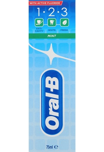 Oral B Tandpasta 123 mint 75 ml