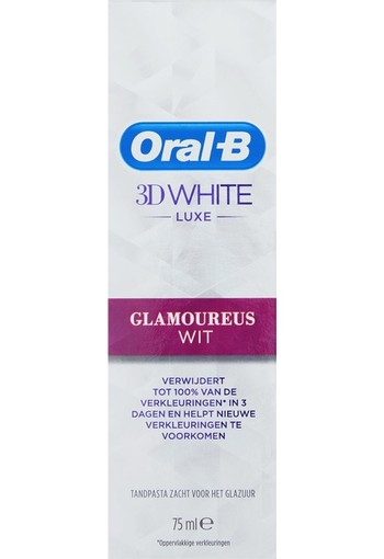 Oral-B 3D White Luxe Glamoureus Tandpasta 75ml