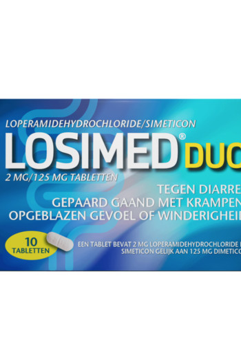 Losimed Losimed duo 2 mg / 125 mg (10 tabletten)